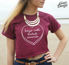 * Boys With British Accents Crop Top Tank Tumblr Cropped Vamps Fashion 1D  *