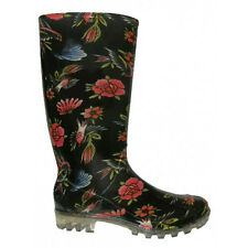 Wholesale Lot 12 pairs Womens Rain Boots Waterproof Outdoor Flower Print RB-18