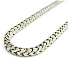 14K White Gold Franco Italy Curb Box Mens Ladies Chain Necklace 3mm 20-30""