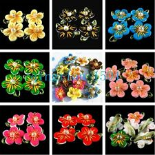 40pcs fashion beautifully hand-sewn fabric flowers Apparel and home decorative H