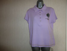 BNWT Lilac 100% Cotton Polo Shirt Top Various Sizes By Kaleidoscope RRP £30