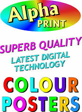 A3 Full Colour Poster Printing Digital Quality also A4 A5  4-500