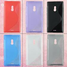 S Shape Soft Silicone Rubber Back Protector Case Cover Skin For Nokia Lumia 800