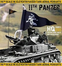 1/16 Scale Rc 11th Pnz. Tank Aerial Pennant Ghost & Tactical for Tamiya/Henglong