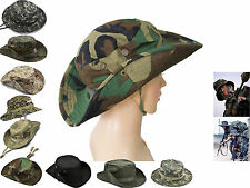 Camo Military Outdoor Wide Brim Bucket Camping Hunting Fishing Jungle Boonie Hat