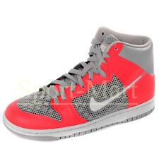 Mens Nike Dunk High Hyperfuse Premium Padded Collar Trainers Grey/Red Mens Size