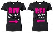 COUPLE WOMEN'S T-SHIRT - BFF Best Friend Forever - crazy best buddy funny tees