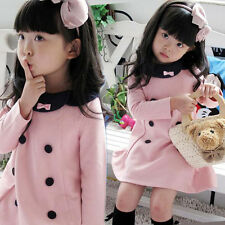 promotion ! Kids Toddler Baby Girl Clothes Cotton Wedding Prom Dress Unique Pink