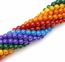 High Quality Bead String(80pcs)Abstract Pattern Round Glass Spacer Bead 11mm