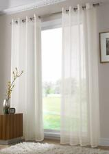 Pair of Sheer Curtain Voile Window Curtains eyelet cream color 2 pcs