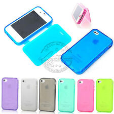 CUTE FLIP TPU SILICONE GEL TRANSPARENT SOFT CASE COVER FOR IPHONE 4G 4S 5G 5S 5C