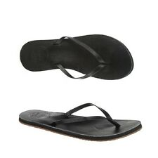 Reef LEATHER UPTOWN Black Thin Leather Straps Women's Sandals Flip Flops