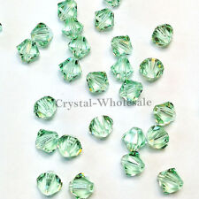 4mm Chrysolite (238) Genuine Swarovski crystal 5328 / 5301 Loose Bicone Beads