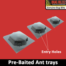 NEW 3 PC ANT STOP BAIT TRAYS- Bug Woodlice Roaches Killer Resistant Ready to Use