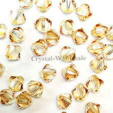 3mm Crystal Golden Shadow Genuine Swarovski crystal 5328 / 5301 Bicone Beads