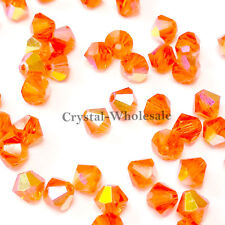 3mm Hyacinth AB (236 AB) Swarovski crystal 5328 / 5301 Loose Bicone Beads