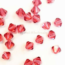 5mm  Indian Pink (289) Genuine Swarovski crystal 5328 / 5301 Loose Bicone Beads
