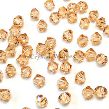 5mm Light Peach (362) Genuine Swarovski crystal 5328 / 5301 Loose Bicone Beads