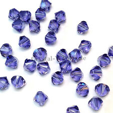 5mm Tanzanite (539) Genuine Swarovski crystal 5328 / 5301 Loose Bicone Beads