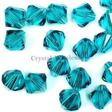 6mm Blue Zircon (229) Genuine Swarovski crystal 5328 / 5301 Loose Bicone Beads