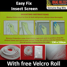 INSECT SCREEN- Flying Bug Mosquito Insect Moth Protection Net Cover Easy Fixing