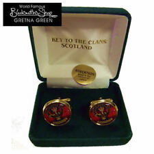 NEW CLAN CREST CUFFLINKS FAMILY NAMES G-MacK GIFT BOXED