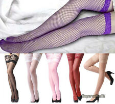NEW Sexy Women's Thigh High Mesh Pantyhose Lace Top Long Socks Fishnet Stockings