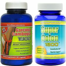 Garcinia Cambogia Colon Cleanse 2 BEST SELLERS FOR THE PRICE OF 1! (Bundle)