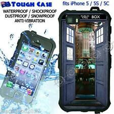 TOUGH Waterproof CASE COVER iPhone 5 5S 5C DOCTOR WHO Inside Tardis DR5