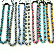 Populared Handmade Shamballa & Hematite Beads Necklace Adjustable Free Shipping