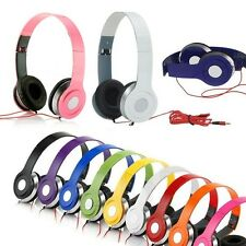 Adjustable Over-Ear Earphone Headphone 3.5mm for iPhone iPod MP3 MP4 PC Music