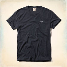 GENUINE HOLLISTER MENS RELAXED FIT AVALON T SHIRT MUSCLE NAVY BLUE S M BNWT