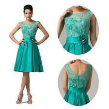 Sexy Lace Sleeveless Cocktail Bridesmaid Evening Prom Party Formal Short Dress