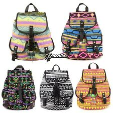New Fashion Flower Print Canvas Women Backpack For Girl Shoulder School Bags