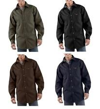 New Carhartt Canvas Flannel-Lined Shirt-Jacket Button Men's $70 S296 M/L/XL/2XL
