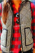 NWT J.Crew Excursion Novelty Quilted Puffer Vest in Herringbone XXS XS S M L XL