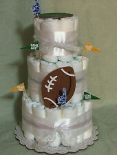 3 Tier Diaper Cake NFL FOOTBALL  PICK YOUR TEAM  Baby Shower Centerpiece