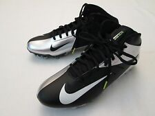 New Mens Nike Hyperfuse Vapor Elite TD 3/4 Football Shoes, Black/Silver $130