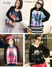 Cool Women Casual Loose Pullovers Printed Sweatershirts SV004882