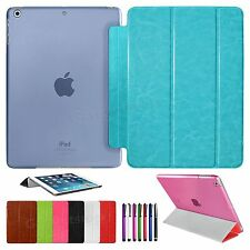 Ultra Slim Magnetic PU Leather Smart Cover & Hard Back Case For APPLE iPad AIR