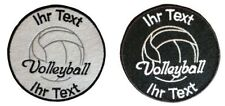 volleyball patch with your own indiv text 10cm embroidered logo (110)