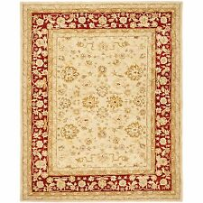 Safavieh Hand Tufted Anatolia Ivory/ Red Wool Carpet Area Rug - AN522C