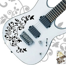 Vine of Life Vinyl Decal for Guitar Body Precision Cut 20 Colour Choices Ibanez