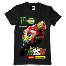 Exclusive Men's T-Shirt - Valentino Rossi - Red Bike Design (SB004 - Black Tee)
