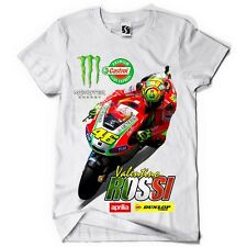 Exclusive Men's T-Shirt - Valentino Rossi - Red Bike Design (SB004 - White Tee)