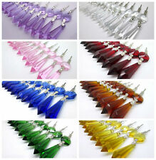 25 Chandelier Glass Crystal Lamp Prisms Parts Hanging Drops Pendants 50mm