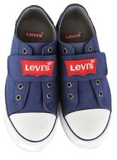 NEW LEVI'S BOY'S CLASSIC LACE UP CANVAS SNEAKER SHOES 545352-090 NAVY