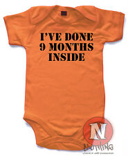 Naughtees Clothing I've Done 9 Months Inside Funny Cotton Babygrow Baby Suit New