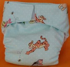 AIO (All In One) Adult Baby Reusable Cloth Diaper S,M,L,XL Pooh and Friends