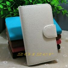 Litchi Line Card slots flip PU leather case cover for Sony Xperia J ST26I